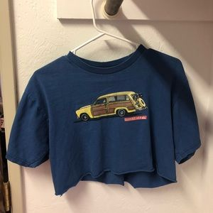Vintage Self-Cut Car Tee (Minor Tearing)